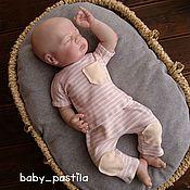 Комплект для фотосессии новорожденного малыша (штанишки +рубашечка)