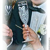 """Свадебный салон ручной работы. Ярмарка Мастеров - ручная работа Свадебные бокалы """"Именные"""". Handmade."""