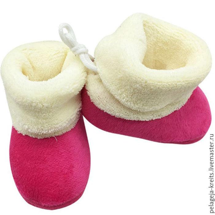 88c5695ed ручной работы. Ярмарка Мастеров - ручная работа. Купить Детские зимние  ботиночки на первые шаги ...