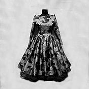 """Одежда ручной работы. Ярмарка Мастеров - ручная работа Платье """"Камили дымчатый иней"""". Handmade."""