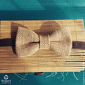 Аксессуары handmade. Livemaster - original item Tie Burlap / bow tie for a wedding in rustic style. Handmade.