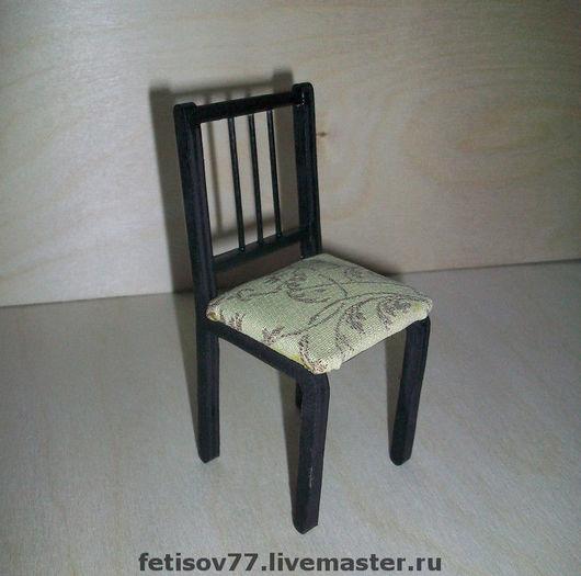 Кукольный дом ручной работы. Ярмарка Мастеров - ручная работа. Купить Кукольный стульчик. Handmade. Кукольная мебель, кукольная миниатюра