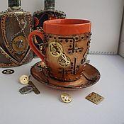 Посуда handmade. Livemaster - original item Mug in the style of steampunk (steampunk). Handmade.