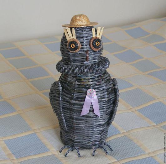 """Корзины, коробы ручной работы. Ярмарка Мастеров - ручная работа. Купить Короб """"Сова"""". Handmade. Темно-серый, хранение мелочей"""