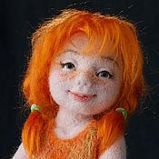 Куклы и игрушки ручной работы. Ярмарка Мастеров - ручная работа Рыжик. Авторская войлочная кукла.. Handmade.