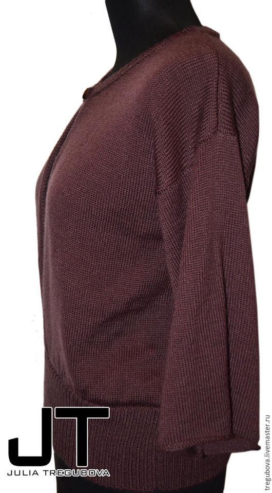 """Кофты и свитера ручной работы. Ярмарка Мастеров - ручная работа. Купить Джемпер """"Шоколад"""". Handmade. Джемпер, свитер женский, кофта"""