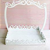 Посуда handmade. Livemaster - original item Wooden large tray with removable handle. Handmade.