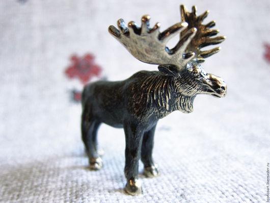 Статуэтки ручной работы. Ярмарка Мастеров - ручная работа. Купить Лось дикий статуэтка фигурка миниатюра сувенир бронзовый коллекционный. Handmade.