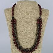 Украшения handmade. Livemaster - original item Necklace made of natural stones Jasper