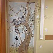 Дизайн и реклама ручной работы. Ярмарка Мастеров - ручная работа Роспись дверей Алиса в стране чудес:). Handmade.