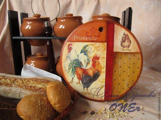 """Кухня ручной работы. Ярмарка Мастеров - ручная работа. Купить Разделочная доска/панно """"Прованс"""". Handmade. Рыжий, красный, петухи, Пасха"""