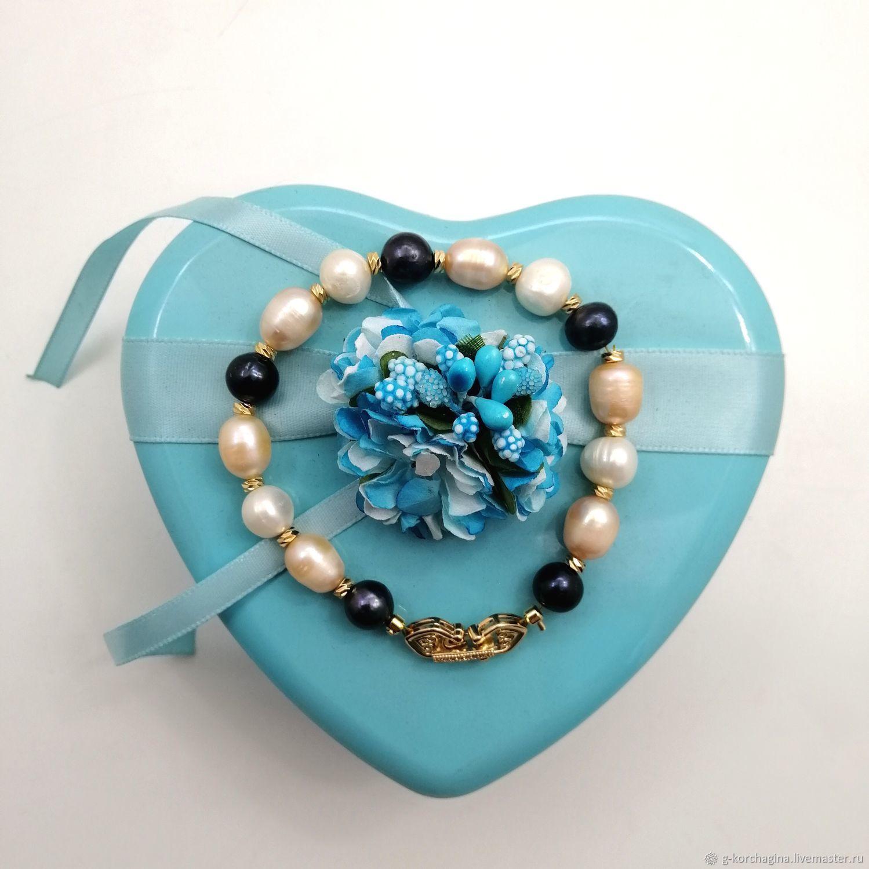 Trio-2 River Pearl Bracelet, Bead bracelet, Voronezh,  Фото №1