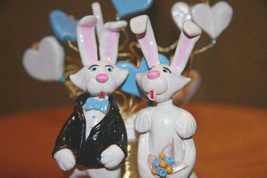 Свадебные аксессуары ручной работы. Ярмарка Мастеров - ручная работа. Купить Фигуры на свадебный торт. Handmade. Керамика, глазурь