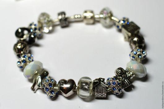 Браслет `Подарок маме`  Модульный браслет Все шармы на браслете можно приобрести отдельно и создать свой собственный браслет