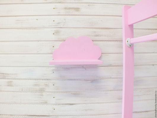 """Детская ручной работы. Ярмарка Мастеров - ручная работа. Купить Полка-облачко №1 """"розовое"""". Handmade. Розовый, полка облако"""