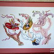 """Картины и панно ручной работы. Ярмарка Мастеров - ручная работа Вышитая картина Helen Tran """"Прекрасные шляпки"""". Handmade."""