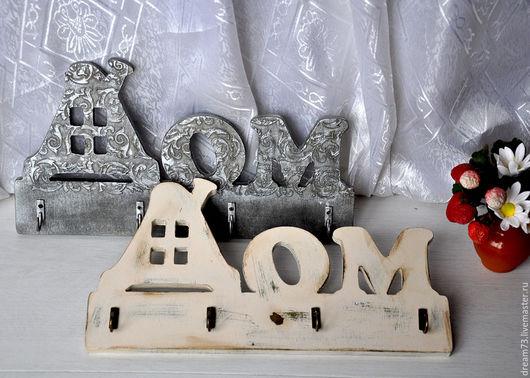 """Прихожая ручной работы. Ярмарка Мастеров - ручная работа. Купить Ключницы """"Домашние"""". Handmade. Комбинированный, дом, акриловые краски и лак"""