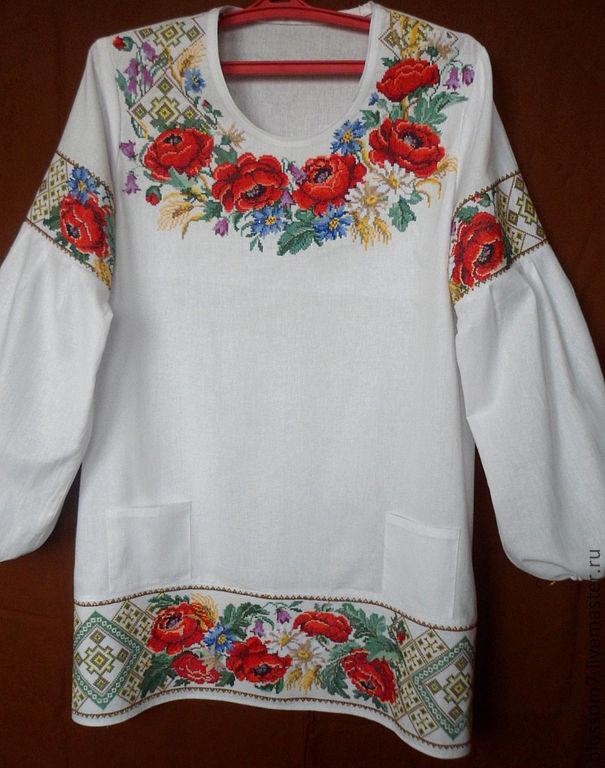 Купить вышитую блузку