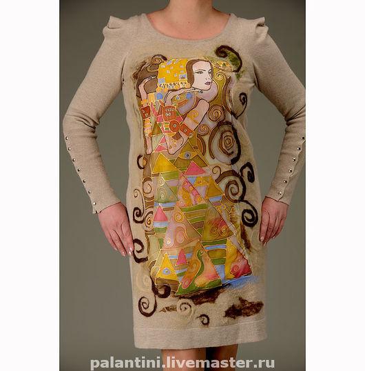 платье, вечерние платья, короткие платья, красивые платья, коктельные платья, платья для женщин, вязанные платья, красивые платья фото, стильные платья, платье бежевое, Климт, Густав Климт, климт