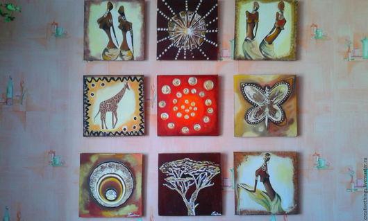 Этно ручной работы. Ярмарка Мастеров - ручная работа. Купить африканские мотивы. Handmade. Бордовый, африканский стиль