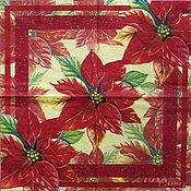 Материалы для творчества handmade. Livemaster - original item 13pcs napkins for decoupage Poinsettia Christmas star. Handmade.