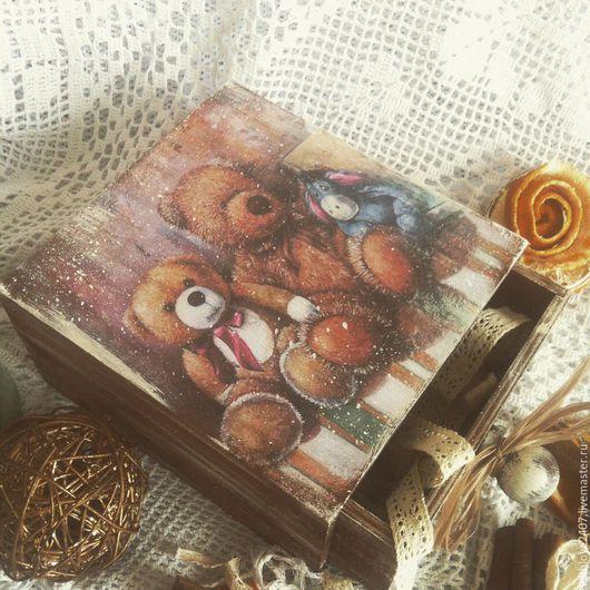 """Детская ручной работы. Ярмарка Мастеров - ручная работа. Купить Короб детский """" Друзья"""". Handmade. Мишки тедди"""