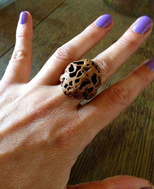 """Кольца ручной работы. Ярмарка Мастеров - ручная работа. Купить Кольцо """"Лабиринт удачи"""". Handmade. Коричневый, бохо, кольцо, дерево"""