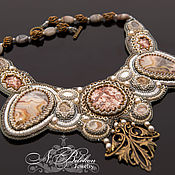Украшения handmade. Livemaster - original item Necklace with lace agate. Handmade.