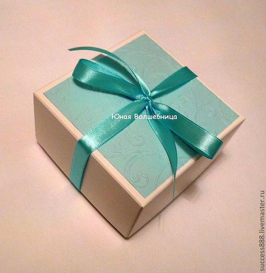 """Свадебные аксессуары ручной работы. Ярмарка Мастеров - ручная работа. Купить Бонбоньерка """"Океан"""" - оригинальная упаковка для подарка. Handmade. Голубой"""