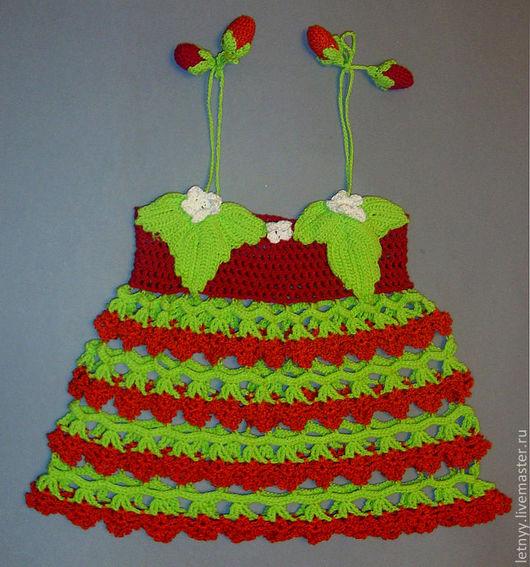 """Одежда для девочек, ручной работы. Ярмарка Мастеров - ручная работа. Купить Платье для девочки """"Земляничка"""". Handmade. Дети, платье для девочки"""