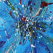 Картины и панно ручной работы. Ярмарка Мастеров - ручная работа Картина маслом Синева. Handmade.