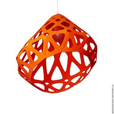 Освещение ручной работы. Ярмарка Мастеров - ручная работа ZAHA LIGHT оранжевый потолочный подвесной светильник. Handmade.