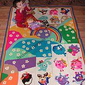 Для дома и интерьера ручной работы. Ярмарка Мастеров - ручная работа Вязаный развивающий коврик в детскую. Handmade.