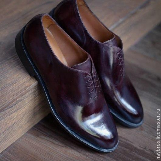 Обувь ручной работы. Ярмарка Мастеров - ручная работа. Купить Hay Bros shoes 2015 Цельнокройные, бесшовные оксфорды. Handmade.