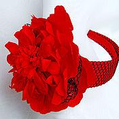 Украшения ручной работы. Ярмарка Мастеров - ручная работа Пион - шляпка на ободке. Handmade.
