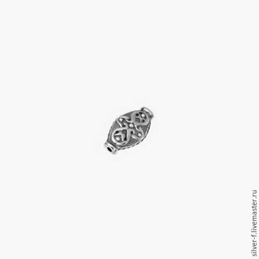 Для украшений ручной работы. Ярмарка Мастеров - ручная работа. Купить Бусина из серебра №11. Handmade. Серебряный, серебро