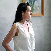 Одежда ручной работы. Ярмарка Мастеров - ручная работа Комбинезон женский светлый. Handmade.