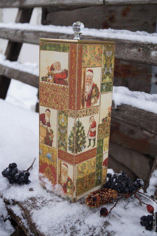 """Кухня ручной работы. Ярмарка Мастеров - ручная работа. Купить Короб для спагетти """" Духи Рождества"""". Handmade. Золотой"""