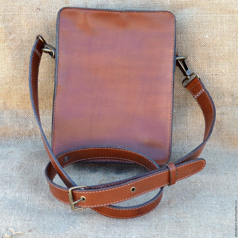 Men S Bags Handmade Livemaster Crossbody Bag Leather