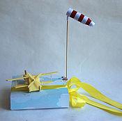 """Открытки ручной работы. Ярмарка Мастеров - ручная работа открытка в коробке """"Самолет"""". Handmade."""