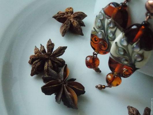 Серьги ручной работы. Ярмарка Мастеров - ручная работа. Купить Серьги Осенние листья. Handmade. Рыжий, серьги в подарок