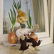 Куклы и пупсы ручной работы. Ярмарка Мастеров - ручная работа Чиполлино, кукла из шерсти. Handmade.