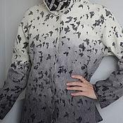"""Одежда ручной работы. Ярмарка Мастеров - ручная работа Валяный жакет """"Мотыльки"""". Handmade."""