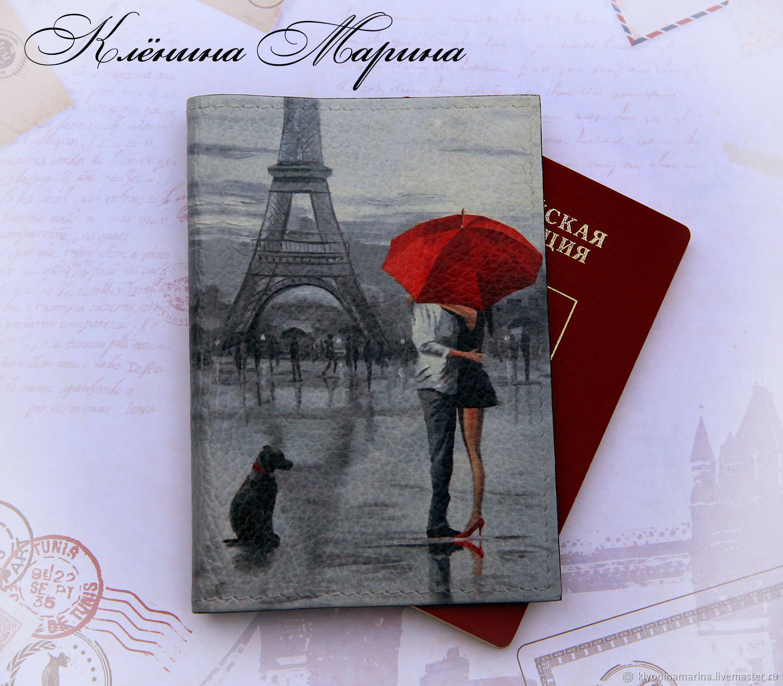 Обложка для паспорта Двое в Париже, Обложки, Москва, Фото №1
