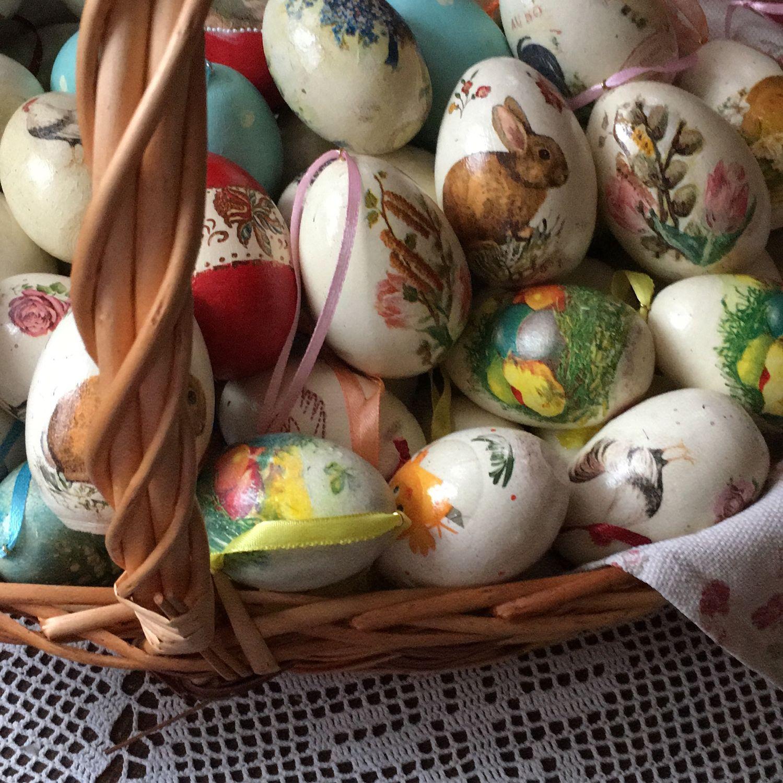 Пасхальные яйца деревянные, Пасхальные сувениры, Красногорск,  Фото №1