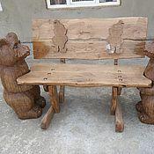 Для дома и интерьера ручной работы. Ярмарка Мастеров - ручная работа лавка с мишками. Handmade.