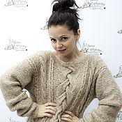 """Одежда ручной работы. Ярмарка Мастеров - ручная работа Пуловер """"Косы"""". Handmade."""