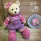 Куклы и игрушки ручной работы. Ярмарка Мастеров - ручная работа Розовая Мишка. Handmade.