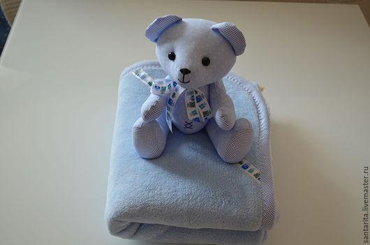 Пледы и одеяла ручной работы. Ярмарка Мастеров - ручная работа. Купить мишка с полотенцем для купания. Handmade. Комбинированный, для малышей
