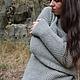 Кофты и свитера ручной работы. Ярмарка Мастеров - ручная работа. Купить Женский свитер  GREY CASHMIRA. Handmade. Серый